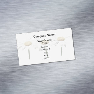 Three Daisies In a Row Magnetic Business Cards