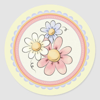 Three Daisies Stickers