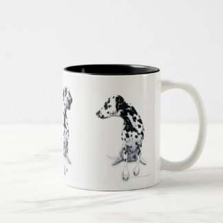 Three Dalmatians Two-Tone Coffee Mug
