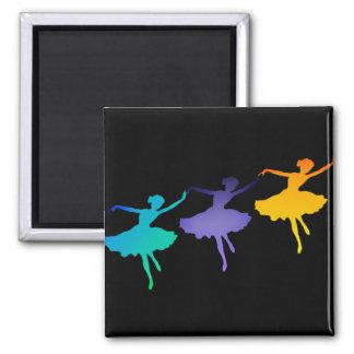 Three Dancers on Black Magnet