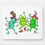 Three Dancing Frogs Mousemat