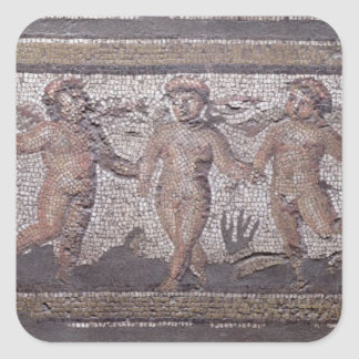 Three dancing putti accompanied by one playing the square sticker