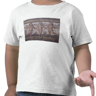 Three dancing putti accompanied by one playing the t-shirt