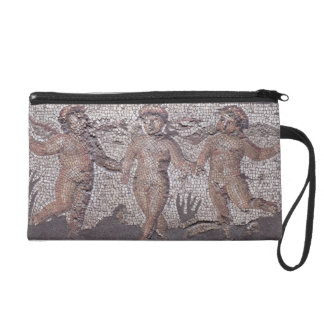 Three dancing putti accompanied by one playing the wristlet clutch