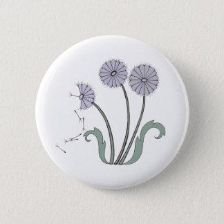 Three Dandelions in Lavender 6 Cm Round Badge