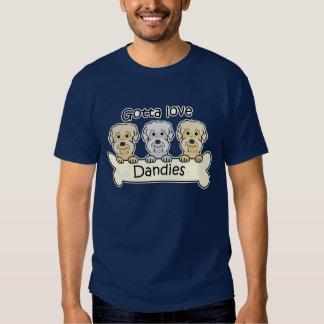 Three Dandie Dinmont Terriers Tee Shirt