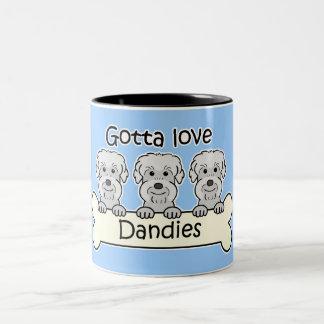 Three Dandie Dinmont Terriers Two-Tone Coffee Mug
