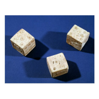 Three dice, from the acropolis at Osteria Postcard