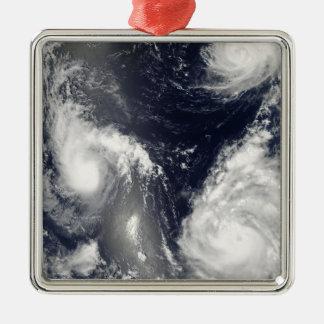 Three different typhoons christmas ornament