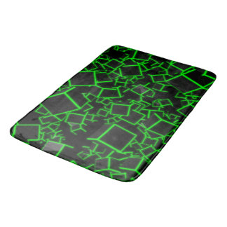 Three dimensional cubes bath mat