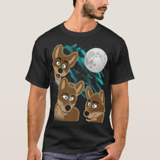 Three Dingo Moon T-Shirt