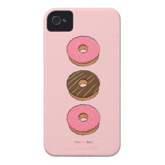 Three donuts phone case - choc & pink