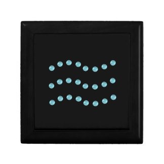 Three dotted wavy lines gift box