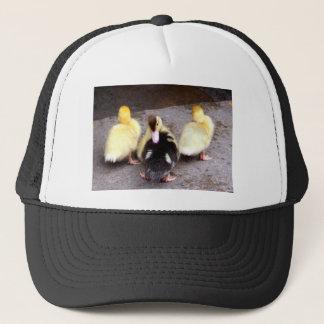 Three ducklings trucker hat