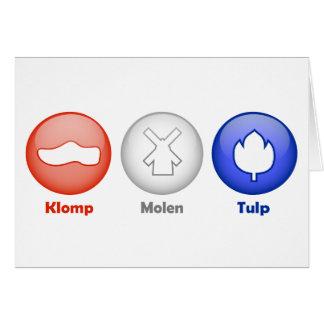 Three Dutch Icons Greeting Card