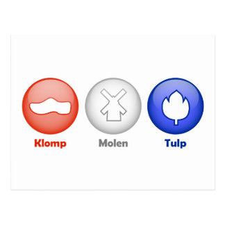 Three Dutch Icons Postcard