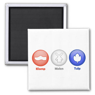 Three Dutch Icons Square Magnet
