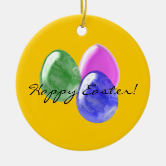 Three Easter Eggs Ornament