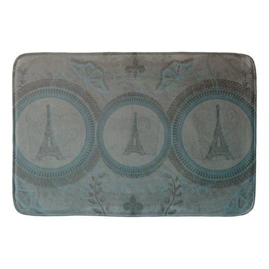 Three Eiffel Towers Bath Mat