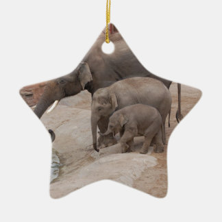 Three Elephants Christmas Ornament