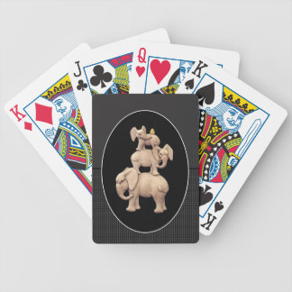 Three Elephants One Duck Bicycle Playing Cards