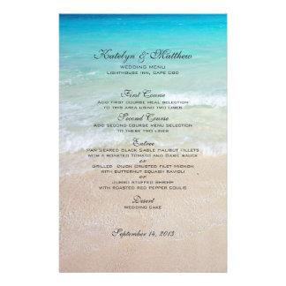 Three Entree Custom Beach Wedding Menu 14 Cm X 21.5 Cm Flyer