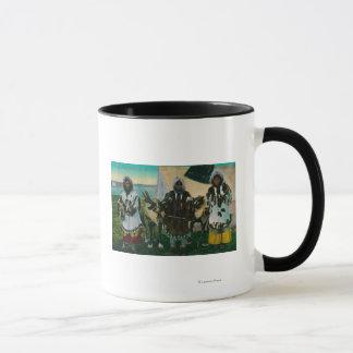 Three Eskimo Beauties and Sled ReindeerState Mug