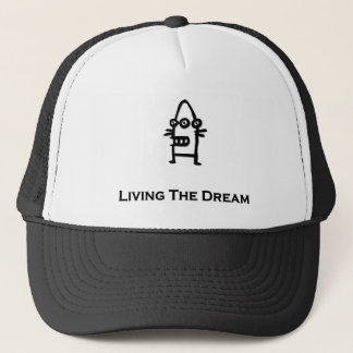 Three Eye Bot Living The Dream Trucker Hat