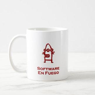 Three Eye Bot Software En Fuego Basic White Mug