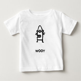 Three Eye Bot w00t black Baby T-Shirt