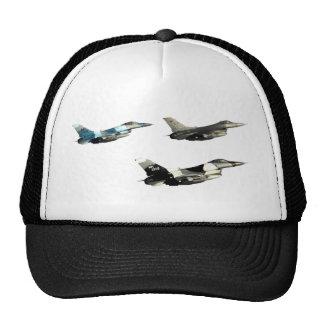 Three F16 Falcons Trucker Hats