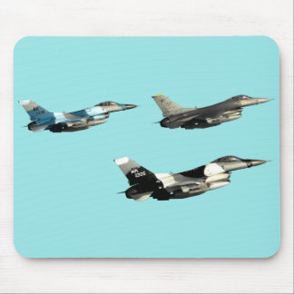 Three F16 Falcons Mouse Mat