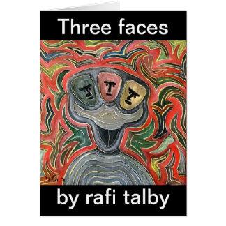 Three faces by rafi talby greeting card