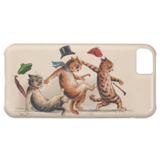 Three Falling Cats by Louis Wain; Fun Vintage Cats iPhone 5C Case
