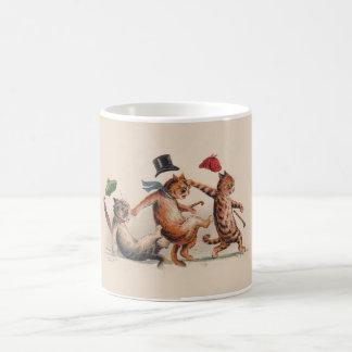 Three Falling Cats by Louis Wain; Funny Animal Mug