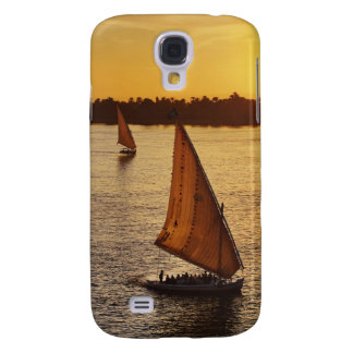 Three falukas with sightseers on Nile River at Galaxy S4 Case