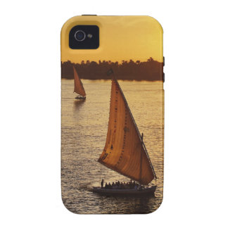 Three falukas with sightseers on Nile River at Vibe iPhone 4 Covers