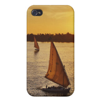 Three falukas with sightseers on Nile River at Cases For iPhone 4
