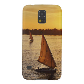 Three falukas with sightseers on Nile River at Galaxy S5 Covers