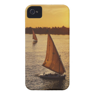 Three falukas with sightseers on Nile River at iPhone 4 Case-Mate Cases
