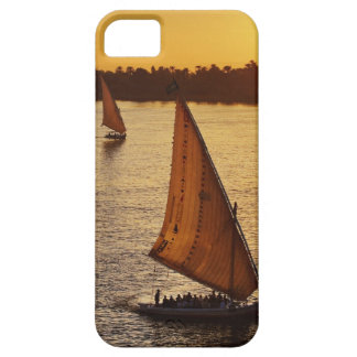 Three falukas with sightseers on Nile River at iPhone 5 Cover
