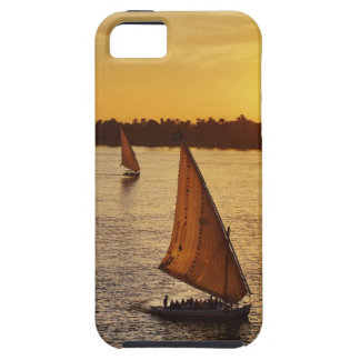 Three falukas with sightseers on Nile River at iPhone 5 Covers