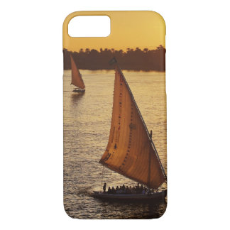 Three falukas with sightseers on Nile River at iPhone 7 Case