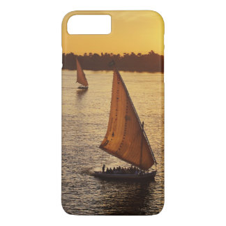 Three falukas with sightseers on Nile River at iPhone 7 Plus Case