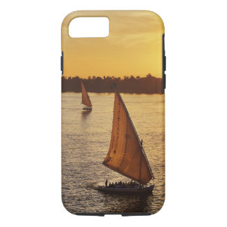 Three falukas with sightseers on Nile River at iPhone 8/7 Case