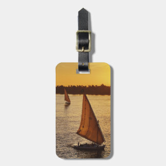 Three falukas with sightseers on Nile River at Luggage Tag