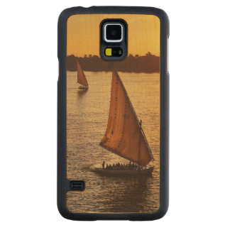 Three falukas with sightseers on Nile River at Maple Galaxy S5 Slim Case