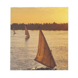 Three falukas with sightseers on Nile River at Notepad