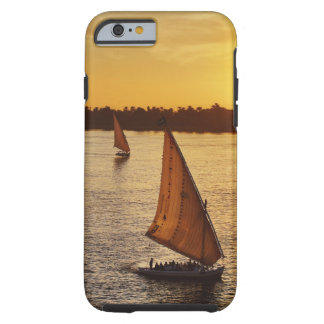 Three falukas with sightseers on Nile River at Tough iPhone 6 Case