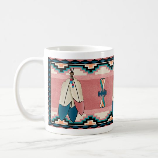 Three Feather Coffee Mug